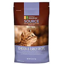 Simply Nourish™ SOURCE Kitten Food - Natural, Grain Free, High Protein, Chicken & Turkey