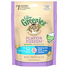 Feline GREENIES® Flavor Fusion Dental Cat Treat - Ocean Fish & Tempting Tuna