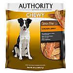 Authority® Chewy Dog Treat - Grain Free, Chicken Jerky