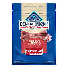 BLUE Dental Bones™ Regular Dog Treat - Natural