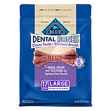 BLUE Bones® Natural Dental Chew Large Dog Treat