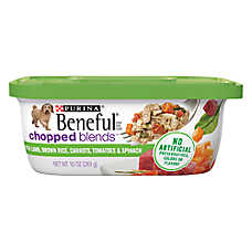 Purina® Beneful® Chopped Blends Dog Food - Lamb, Brown Rice, Carrots, Tomatoes & Spinach
