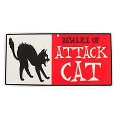"Hillman ""Beware of Attack Cat"" Sign"