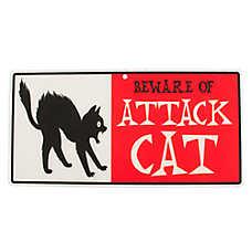"Hillman ""Beware of Attack Cat"" Sign"