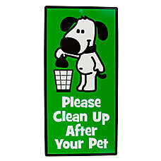 "Hillman ""Please Clean Up After Your Pet"" Sign"