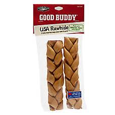 GOOD BUDDY® Rawhide Braided Sticks Dog Treat