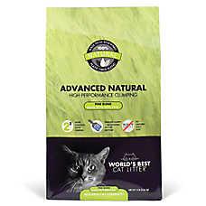 World's Best Advanced Natural Cat Litter - Natural, Clumping, Pine Blend, Multiple Cat