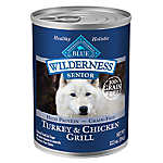 BLUE Wilderness® Grain Free Turkey & Chicken Senior Dog Food