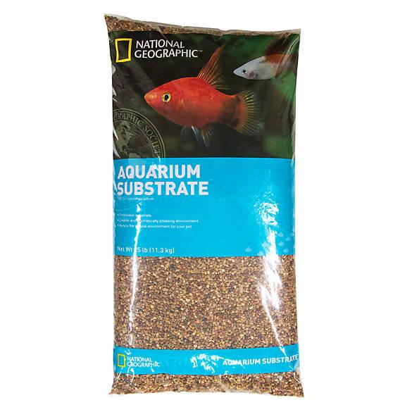National geographic aquarium substrate fish gravel for Petsmart fish decor
