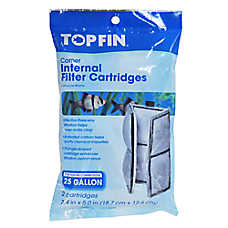 Top Fin® Corner Internal Aquarium Filter Cartridges