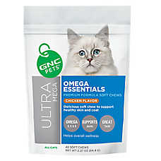 GNC Pets Ultra Mega Omega Essentials Premium Formula Cat Chews