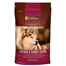 Simply Nourish® SOURCE Small Breed Adult Dog Food - Grian Free, High Protein, Chicken & Turkey