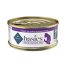 BLUE Basics® Limited Ingredient Adult Cat Food - Grain Free, Indoor, Turkey & Potato