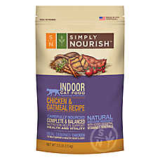 Simply Nourish™ Indoor Cat Food - Natural, Chicken & Oatmeal