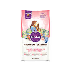 HALO® DreamCoat Indoor Healthy Weight Cat Food - Natural, Grain Free, Wild Salmon & Whitefish Recipe