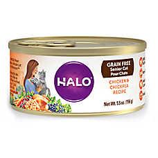 HALO® Senior Cat Food - Natural, Grain Free, Chicken & Chickpea Recipe