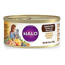 HALO® Senior Cat Food - Natural, Grain Free, Turkey & Chickpea Recipe