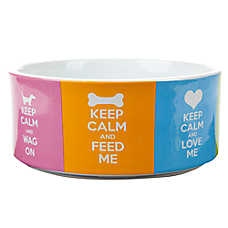 Top Paw® Keep Calm Dog Bowl