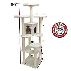 "Majestic Pet 80"" Bungalow Cat Tree"