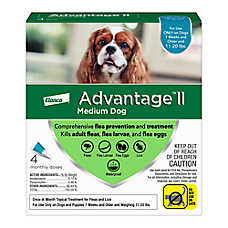 Advantage® II 11-20 Lb Dog Flea & Lice Treatment