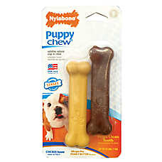 Nylabone® Chicken and Peanut Butter Flavored Puppy Bone