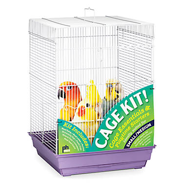 Prevue Pet Products Square Roof Bird Cage Kit Bird Cages