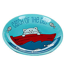 Whisker City® Catch Of The Day Cat Saucer