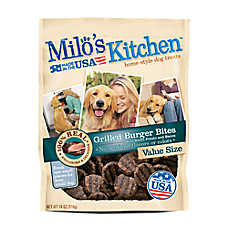 Milo's Kitchen Dog Treat - Grilled Burger Bites
