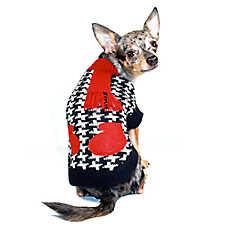 Hip Doggie Houndstooth Scarf & Mitten Sweater