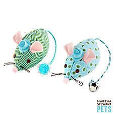 Martha Stewart Pets® Patterned Plush Mouse Cat Toy