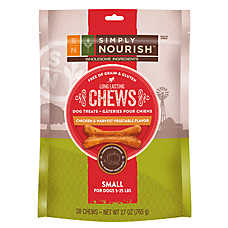 Simply Nourish™ Long-Lasting Chews Grain Free, Gluten Free, Chicken & Vegetable Small Dog Trea