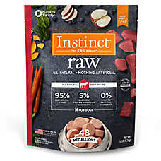 Nature's Variety® Instinct® Raw Medallions Dog Food - Natural, Grain Free, Frozen Raw