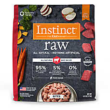 Nature's Variety® Instinct® Raw Bites Dog Food - Natural, Grain Free, Frozen Raw
