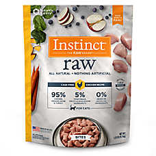 Nature's Variety® Instinct® Raw Bites Cat Food - Natural, Grain Free, Frozen Raw, Chicken