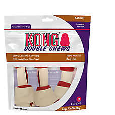 KONG® Double Chews Bacon Natural Medium Chew Dog Treat