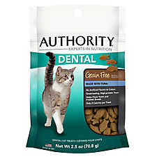 Authority® Dental Cat Treat - Grain Free, Tuna