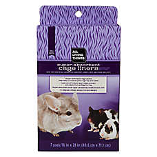 All Living Things® Super-Absorbent Small Pet Cage Liner