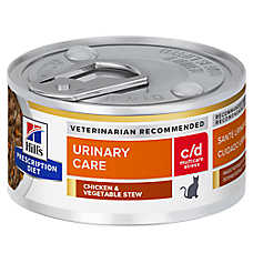 Hill's® Prescription Diet® c/d Multicare Urinary Care Stress Cat Food - Chicken & Vegetable Stew