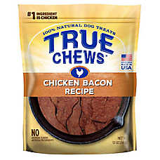 True Chews® Premium Sizzlers Dog Treat - Natural, Chicken Bacon
