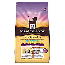 Hill's® Ideal Balance™Slim & Healthy Indoor Adult Cat Food - Natural, Chicken & Peas