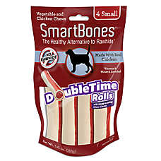 SmartBones® DoubleTime Rolls Small Dog Treat - Chicken