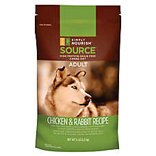 Simply Nourish™ SOURCE Adult Dog Food - Grain Free, High Protein, Chicken & Rabbit