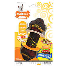 Nylabone® Flavor Frenzy Bacon Cheeseburger Dog Toy