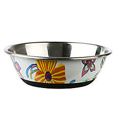 Whisker City® Floral Watermark Cat Bowl