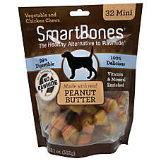 SmartBones® Mini Chews Dog Treat - Peanut Butter