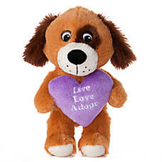 "Luv-A-Pet™ ""Live Love Adopt"" Squeaker Dog Toy"