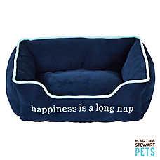 "Martha Stewart Pets® ""Happiness is a Long Nap"" Cuddler Pet Bed"
