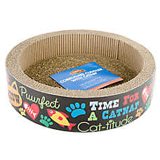 Grreat Choice® Corrugate Cuddle with Catnip Cat Scratcher