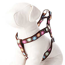 Top Paw® Casey Polka Dot Paw Step-In Dog Harness