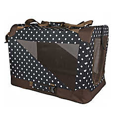 Pet Life Polka Dot Vista View Crate